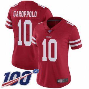 Women 49ers Jimmy Garoppolo 100th Season Jersey (5